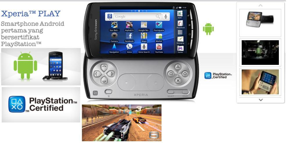 Preview Sony Ericsson Xperia Play: Ponsel Game Dengan ...